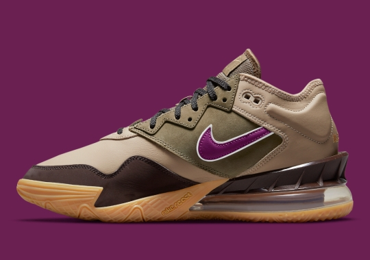 """Official Images Of The atmos x Nike LeBron 18 Low """"Viotech"""""""