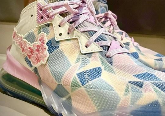 atmos x Nike LeBron 18 Low Features Sakura Flowers