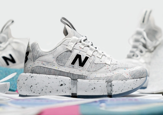 Jaden Smith's Next Sustainable New Balance Vision Racer ReWorked Covers Grey Fleece With Speckling