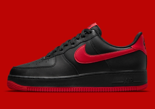 """The Nike Air Force 1 Low Keeps It Classic With An Essential """"Bred"""" Colorway"""