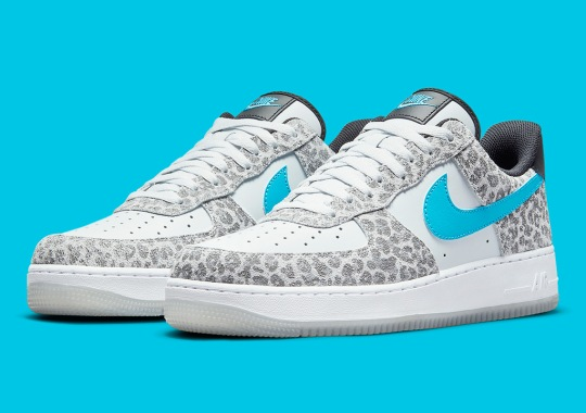 The Nike Air Force 1 Continues Its Wild Streak With Leopard Patterns And Blue Fury Accents