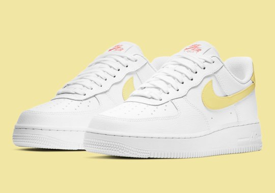 The Women's Nike Air Force 1 Low Gets Buttery Yellow Swooshes
