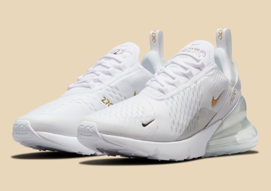 Silver And Gold Come Together On The Nike Air Max 270 Essential