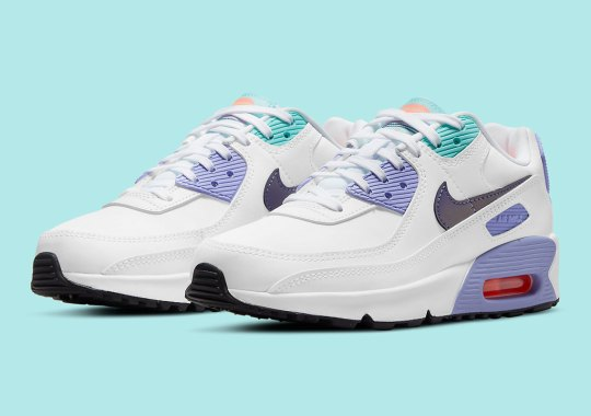Light Thistle Gives This Nike Air Max 90 For Kids An Spring Vibe