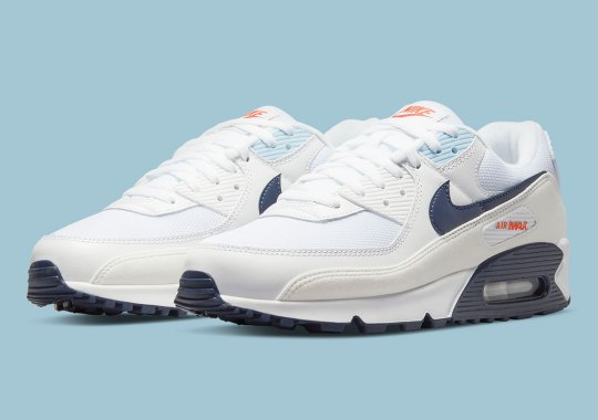 This Navy-Accented Air Max 90 Features Fleece-Like Mudguards