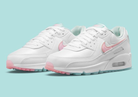 A White Nike Air Max 90 Gets Dressed In Subtle Pastels