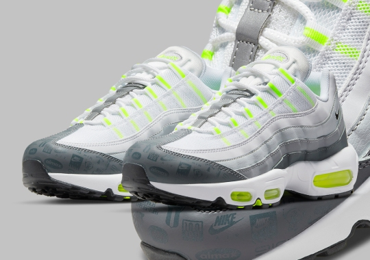 "This Nike Air Max 95 ""Neon"" Features Logo-Covered Toeguards"
