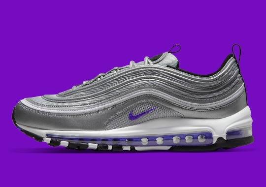 """This Nike Air Max 97 Updates The Classic """"Silver Bullet"""" Approach With Purple"""
