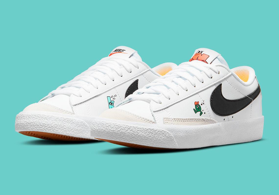 Nike Blazer Low '77 GS White/Black DJ5201-106 | SneakerNews.com