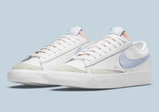 """The Nike Blazer Low '77 """"Ghost"""" Offers A Pleasant Tint Of Blue"""