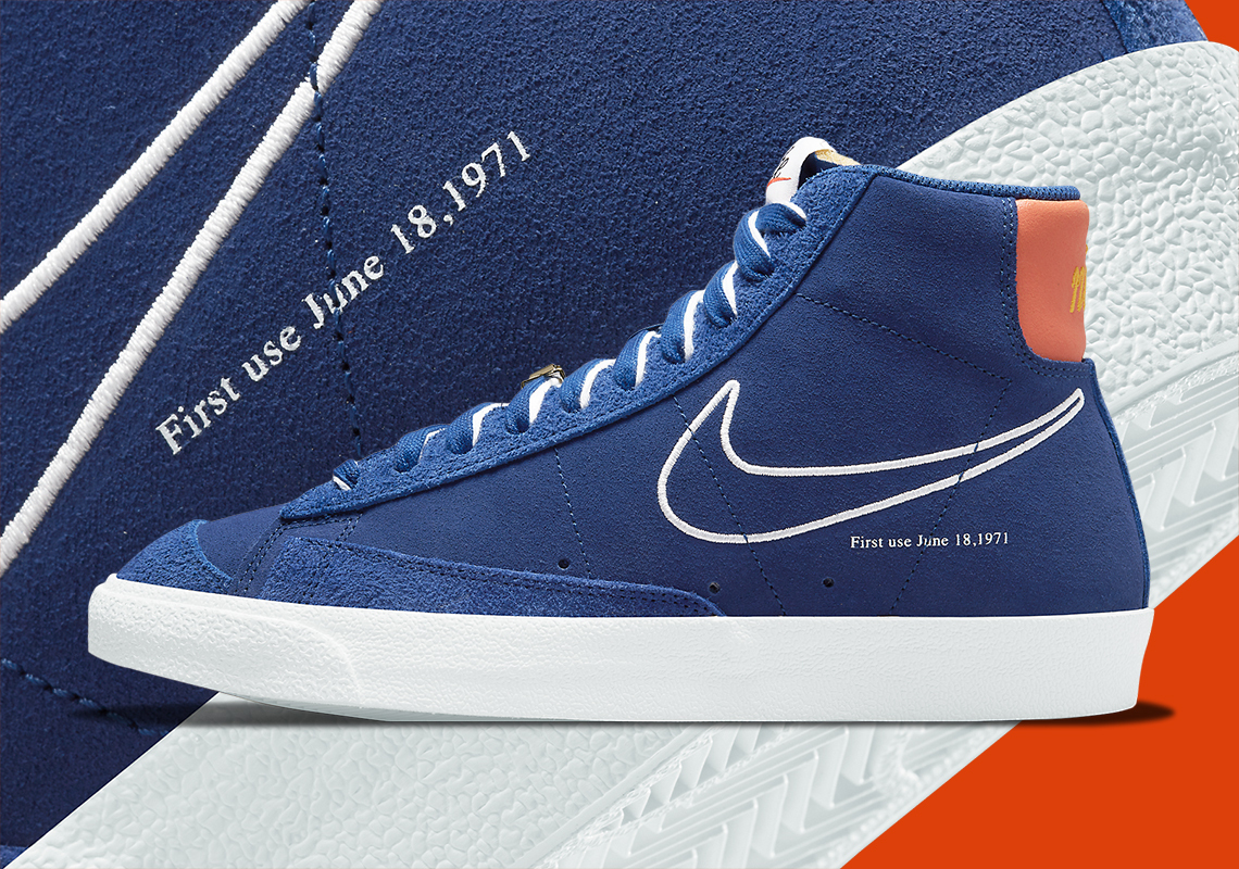 Nike Blazer Mid '77 First Use Royal Blue DC3433-400 | SneakerNews.com
