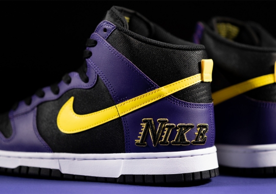 The Nike Dunk High Embossed Is A Clear Nod To The Lakers