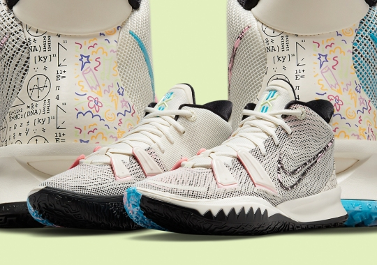 "Nike Kyrie 7 ""Pale Ivory"" Juxtaposes Irving's Intellectual And Playful Sides"
