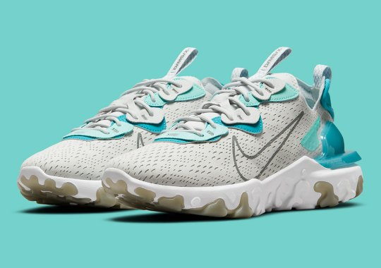 An Upcoming Nike React Vision Gets Splashed With Aquamarine Accents