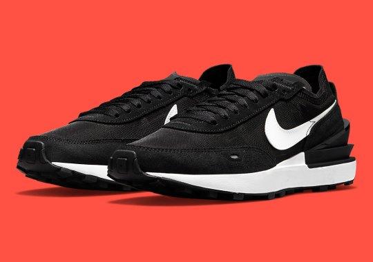 The Nike Waffle One Appears In A Sleek Black And White
