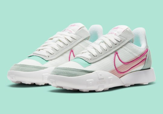 The Nike Waffle Racer 2X Revamps Classic Runner Styles With Pink and Mint Details