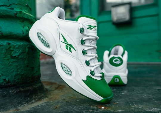 """Reebok Question Low """"Green Toe"""", A Nod To Rajon Rondo's PE, Is Releasing On May 14th"""