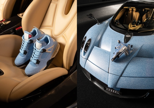 Titolo Commemorates Upcoming Air Jordan 4 Drop With A Custom Pagani Huayra Roadster With Kessel Auto