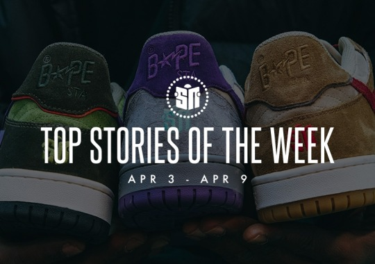 Thirteen Can't Miss Sneaker News Headlines from April 3rd to April 9th