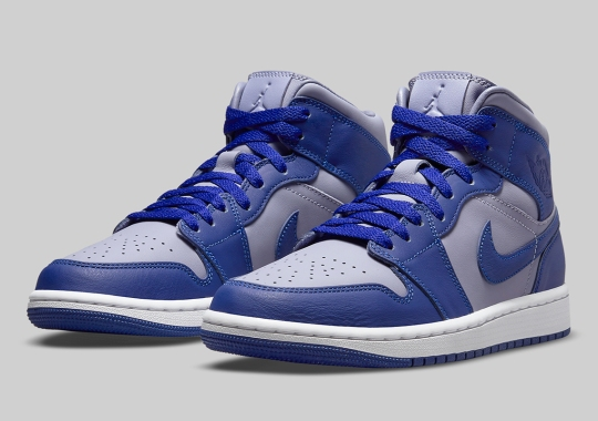 The Air Jordan 1 Mid Appears In Georgetown Colors