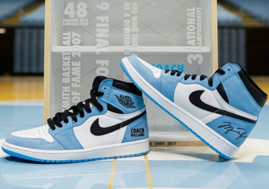 "Roy Williams-Gifted Air Jordan 1 ""University Blue"" Autographed By Michael Jordan"