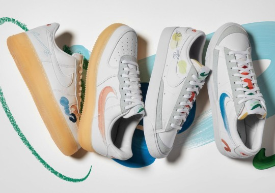 Mayumi Yamase Helps Brings The Latest Nike Flyleather Collection To Market With Whimsical Paint Markings