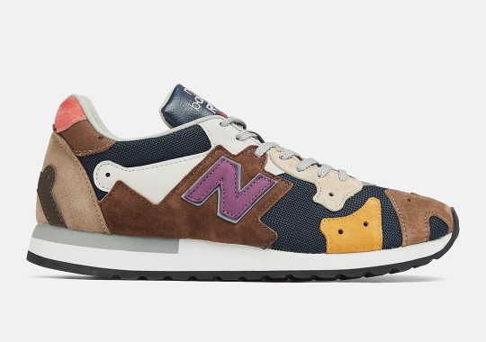 The New Balance R770, Made From Recycled Surplus, Returns In Multi-Colored Mix