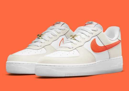 """Nike Air Force 1 Low """"First Use"""" Sees A Classic Cream And Orange Look"""
