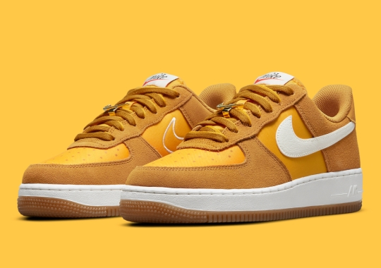 """""""University Gold"""" Lands On Another Nike Air Force 1 Low """"First Use"""""""