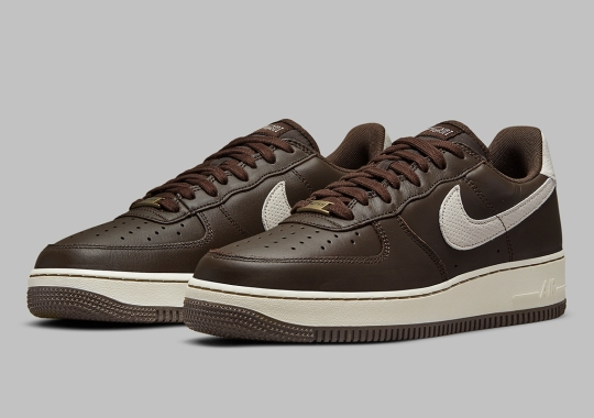 "The Nike Air Force 1 Craft Gets A ""Dark Chocolate"" Leather Exterior"