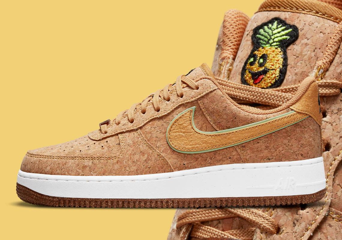 Nike Air Force 1 Pineapple Cork DJ2536-900 Release   SneakerNews.com