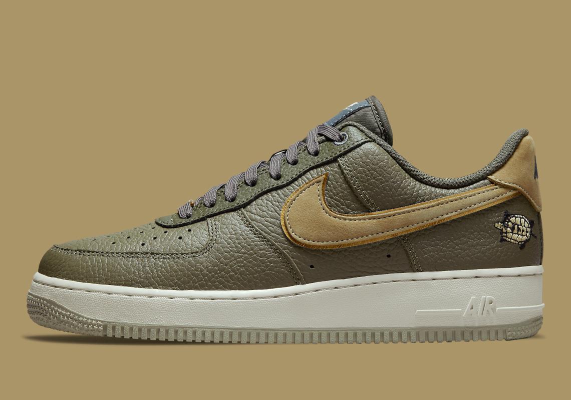 Nike Air Force 1 Tortoise Olive Cargo DA8482-200| SneakerNews.com