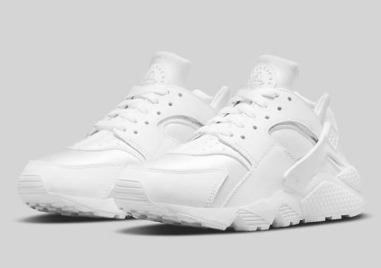 Triple White Returns To The Nike Air Huarache