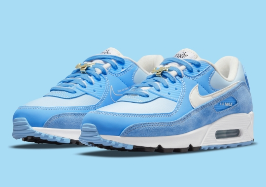 "A Third Nike Air Max 90 ""First Use"" Appears With Shades Of ""University Blue"""
