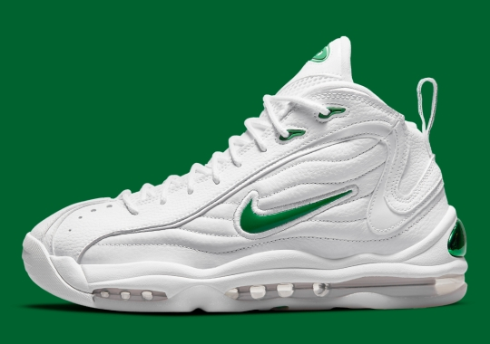 The Nike Air Total Max Uptempo Appears In White And Green