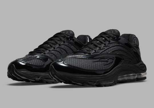 Black Patent Leather Gives The Nike Air Tuned Max A Sleek Vibe