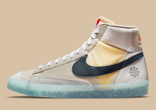 The Nike Blazer Mid '77 Pairs An Icy-Translucent Midsole With Regrind Outsoles