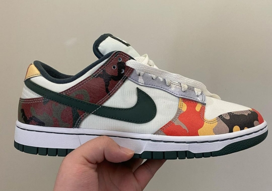 "Another Nike Dunk Low SE In ""Multi-Camo"" Is Coming Soon"