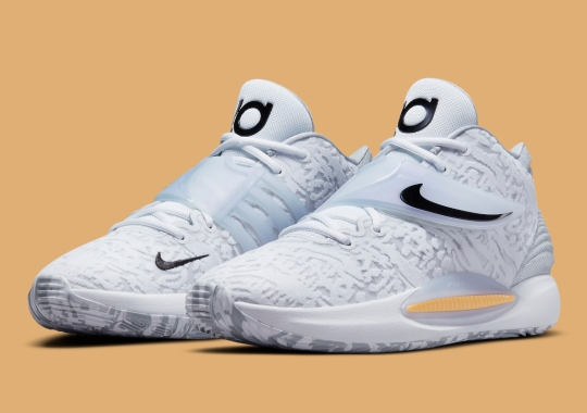 """Kevin Durant's Next Nike KD 14 """"Home"""" Keeps Things Simple In """"White/Black"""""""