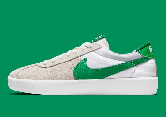 Green Swooshes And Accents Appear On The Nike SB Bruin React