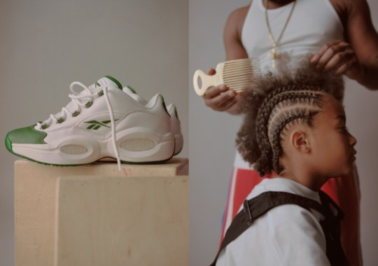 "BSTN Recreates Allen Iverson's Iconic Hairstyles In Celebration Of Reebok Question Low ""Green Toe"" Release"