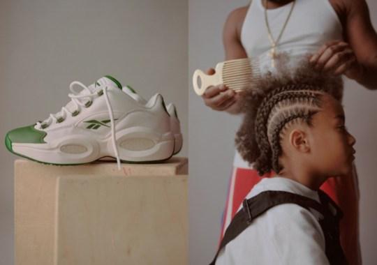 "BSTN Recreates Allen Iverson's Iconic Hairstyles In Celebration Of Reebok Question Low ""Green Toe"" Release"