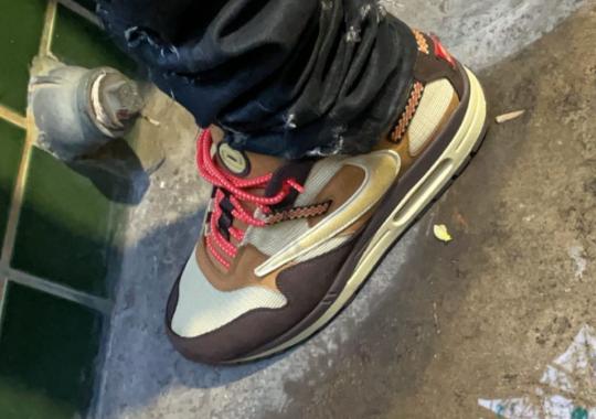 "Best Look Yet At The Travis Scott x Nike Air Max 1 ""Baroque Brown"""