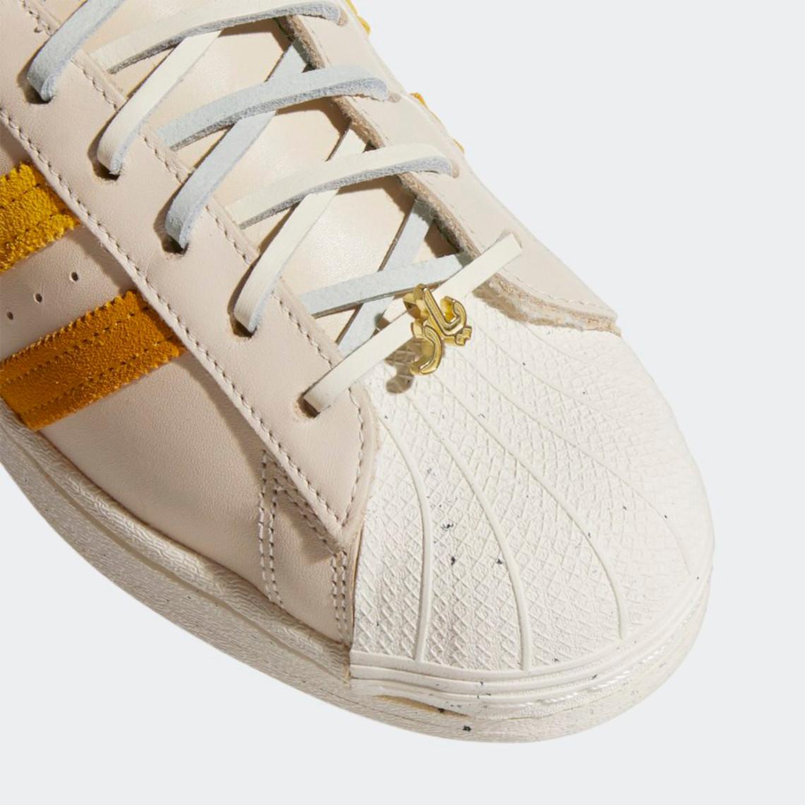 Yara Shahidi adidas Superstar Legacy Gold GZ2764 | SneakerNews.com