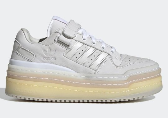 The adidas Triple PlatForum Low Sees A Full Stack Of Crystal White