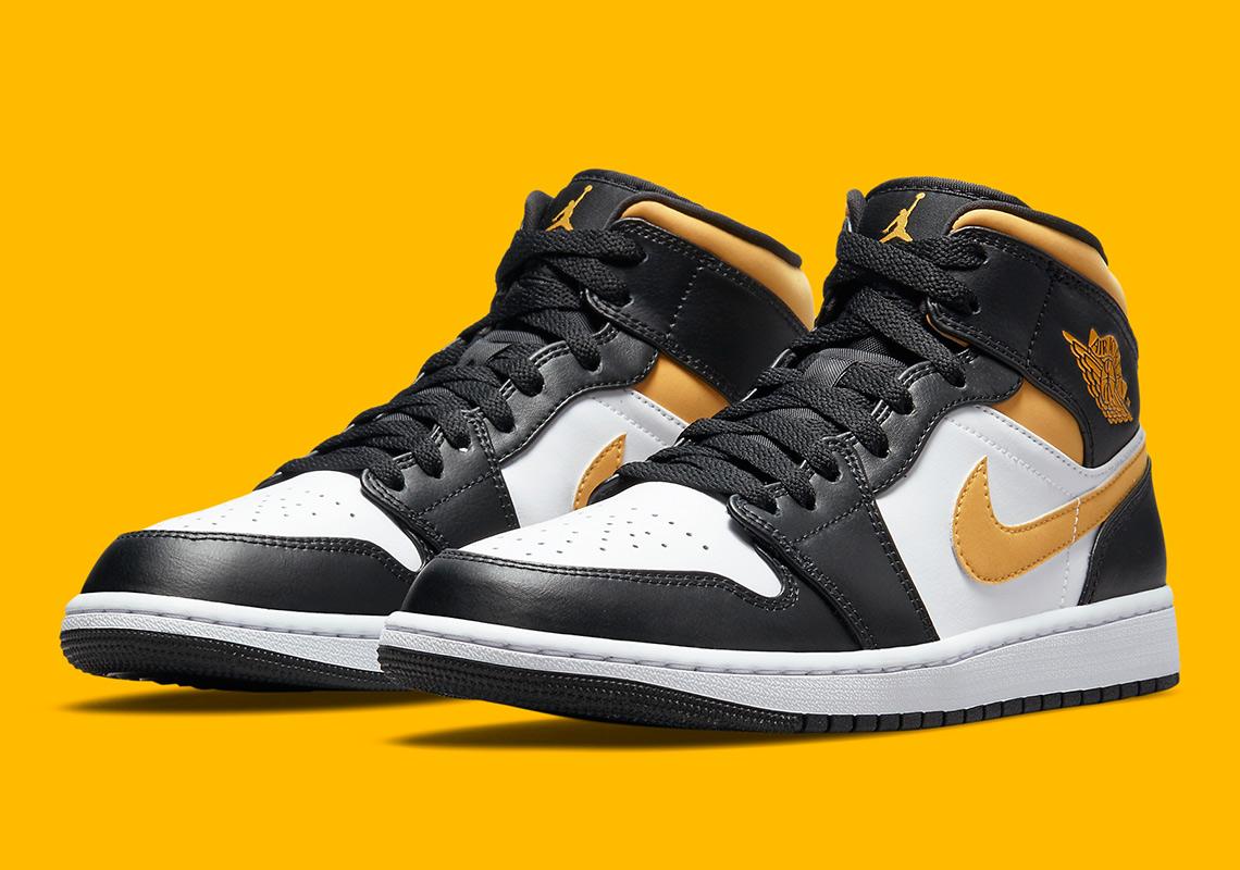 Air Jordan 1 Mid University Gold 554725-177 | SneakerNews.com