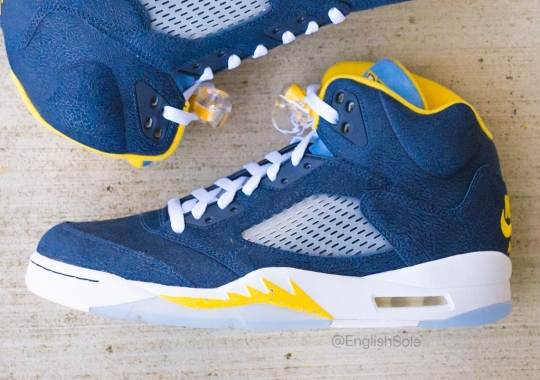 "Up Close With The Air Jordan 5 ""Marquette"" PE"