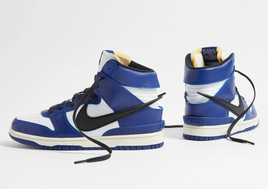 "Where To Buy The AMBUSH x Nike Dunk High ""Deep Royal Blue"""