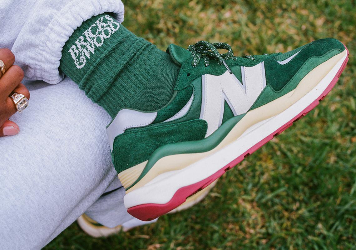 Bricks & Wood New Balance 57/40 Green Release   SneakerNews.com