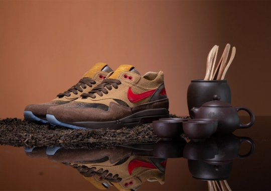"""CLOT's Tea-Inspired Nike Air Max 1 """"Cha"""" To Release On May 21st"""